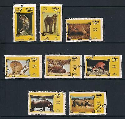 State of Oman used stamps - African Wildlife, used