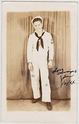 LOT OF 2 Vintage Sepia Real Photo Postcards: Handsome Sailors: Gay Interest
