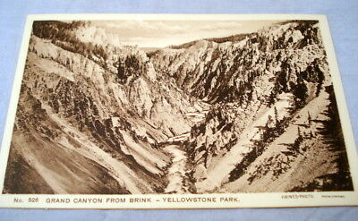 Antique Postcard Yellowstone Park Haynes Photo #526 Grand Canyon From Brink