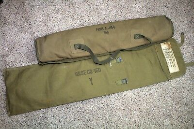 WW2 US Army Airborne Identification Panel AL-140 with Carrying Case CS-150 RED