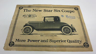Original 1924? Star Sales Literature from my Fathers collection