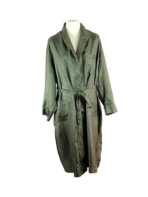 VINTAGE ST MICHAEL - Tricel Dressing Gown Smoking Jacket - XL