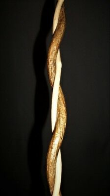 """23 1/2"""" Finished Curled Spiral Grape Vine Wand Witch Pagan Wizard Metaphysical"""