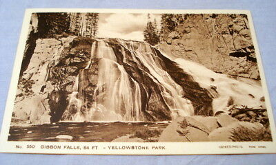 Antique Postcard Yellowstone Park Haynes Photo #550 Gibbons Falls, 84 Ft.