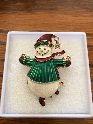 "What An Adorable ""Snowman"" Brooch"