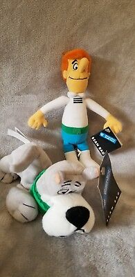 new George Jetson And Astro Bean Bag Plush Set  1998 1999 WB warner brothers nwt