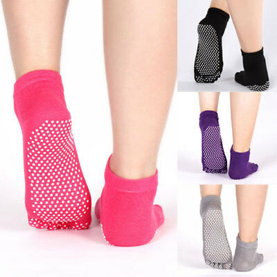 Womens Girls Non-slip Five Finger Low Cut Toe Dotted Breathable Sports Socks Hot