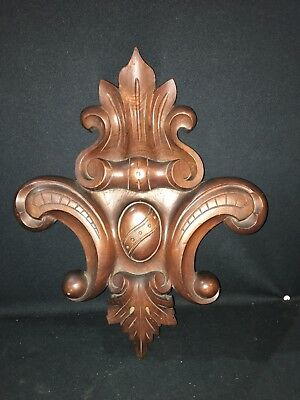 "1920's 18 1/2"" Carved Wood Pediment"