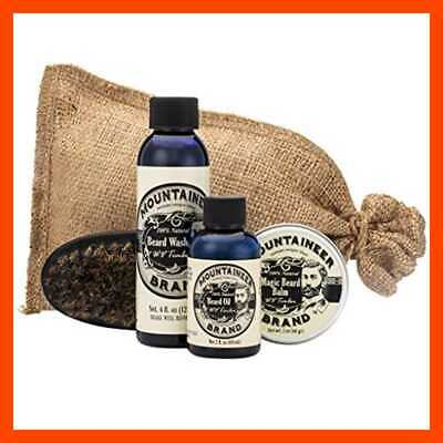 Beard Grooming Kit by Mountaineer Brand: All-Natural, Complete Care in one (WV T