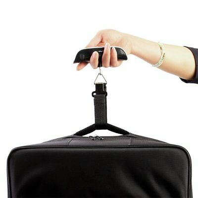 Hot 50KG TRAVEL PORTABLE HANDHELD LUGGAGE WEIGHING DIGITAL SCALES SUITCASE BAGIO