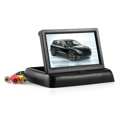 """Foldable 4.3"""" Car Rear View Monitor Truck Reversing TFT LCD Wide Viewing Angle"""