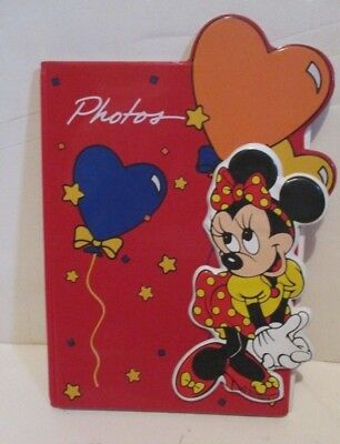 Disney Minnie Mouse Hearts Vinyl Covered Photo Album Book Small World Greetings