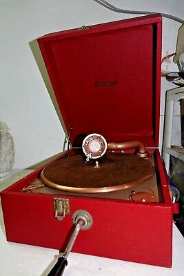 Very Old Red Decca Brunswick Wind Up Gramophone -  Very Rare - L@@k