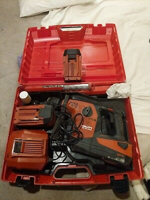 HILTI TE 30-A36 Cordless Rotary Hammer Drill, 3 Batteries, Charger, Case, Bits