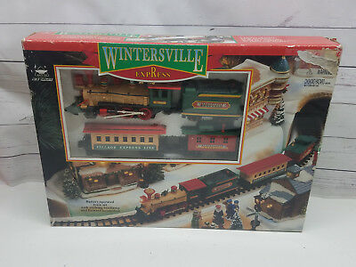 New Bright Wintersville Express Christmas Battery Operated Train Set 1996