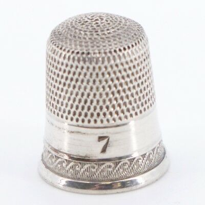 VTG Sterling Silver - Ornate Sewing Thimble Size 7 - 2.2g