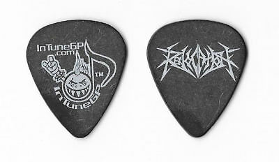Revocation white on black Guitar Pick