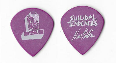 Suicidal Tendencies white on purple Guitar Pick