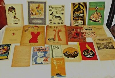 VINTAGE 1920's-30's LOT OF 19 BOOKLETS ADVERTISING FASHION GUIDES LITERATURE