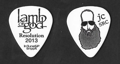 Lamb of God black on white Guitar Pick