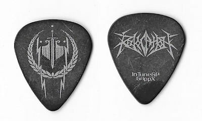 Revocation silver on black Guitar Pick