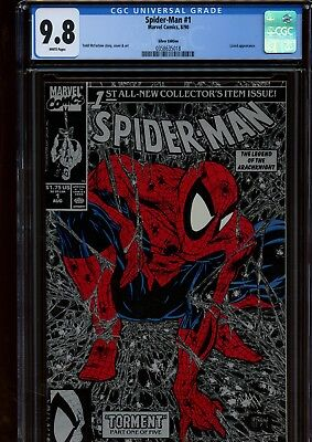 Spider-Man 1 (Silver Edition) CGC 9.8 | Marvel 1990 | Lizard Appearance.