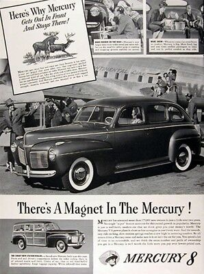 1941 MERCURY SEDAN & WOODY WAGON Genuine Vintage Advertisement
