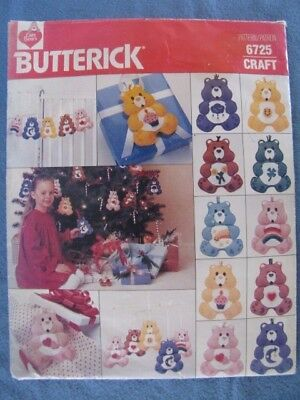 "Vintage Butterick ""care Bear"" Ornaments Pattern- Uncut"