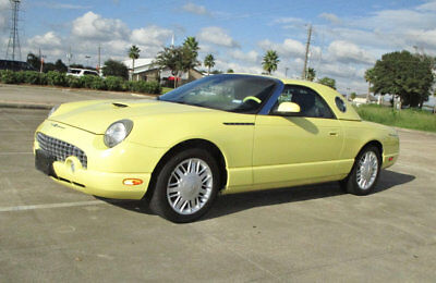2002 Ford Thunderbird FULL INTERIOR COLOR ACCENT Low shipping serviced Deluxe Premium hardtop two tone leather 2-Owner like new