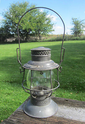Adlake - Grand Trunk Western Railroad Lantern with Rare Pere Marquette Globe