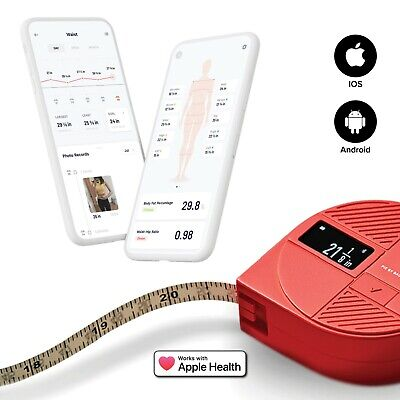 Digital Soft Tape Measure PIE Body Fat, Weight Loss, Muscle Gain, Fitness /w APP