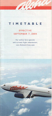 Aloha Airlines timetable 9/7/2004