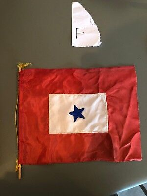 Vintage Ww 2 Son In Service 1 Blue Star Window Flag Rare Army Navy Usa Banner