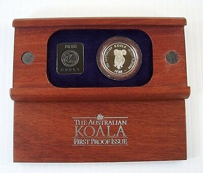 "1988-AUSTRALIA 1/2 oz .9995 PLATINUM PROOF $50 ""KOALA"" - IN ORIGINAL BOX & CASE!"