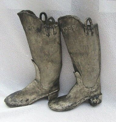 Rare Antique Candee Rubber Boots Salesman's Sample 1800's
