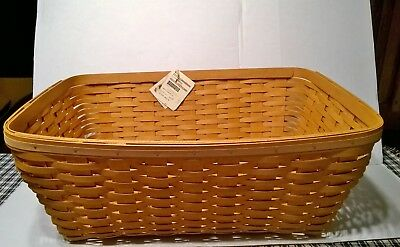 Longaberger 2014 LARGE STOW-A-WAY Laundry Basket Warm Brown-NEW