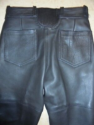 EasyRiders Black Leather Motorcycle Pants~27 x 29.5 inseam Women's Size 6