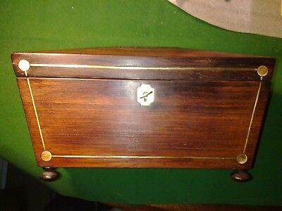 jewellery box made from a tea caddy, antique