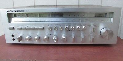 Vintage AKAI AS-1080DB 4 Channel Stereo Receiver, New Panel Glass & LED Lights