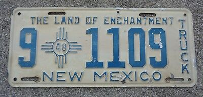 New Mexico 1948 Truck  license plate #  9  1109