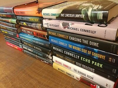 Lot of 10 MICHAEL CONNELLY Books HARRY BOSCH MICKEY HALLER HARDCOVER*RANDOM MIX