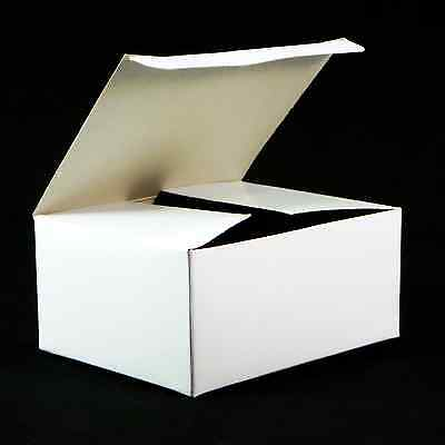 """10x White Chipboard Gift Box 4¼""""w x 3¼""""d x 2""""h Automatic Bottom Tuck Lid 998-001"""