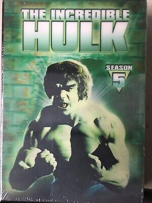 THE INCREDIBLE HULK - Season 5 2 x DVD Set AS NEW! Fifth Series Five REGION 1