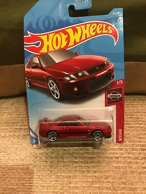 2019 Hot Wheels Red Nissan Skyline GT-R (BCNR33) #6 Case Q JDM Diecast Car
