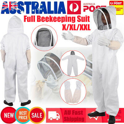 L XL XXL Full Beekeeping Suit Bee Suit Heavy Duty w/ Keeping Gloves Protective