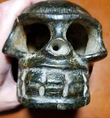 Neolithic Jade Age Hybridized Rock and Metal Alloy Skull 2700 - 2725  B.C.