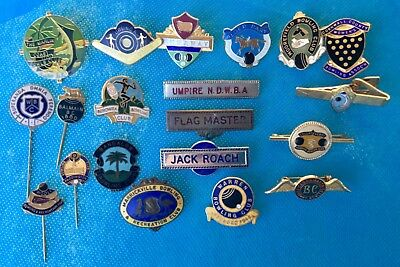 Vintage Collection of 20 bowling club  enamel badges lot 7