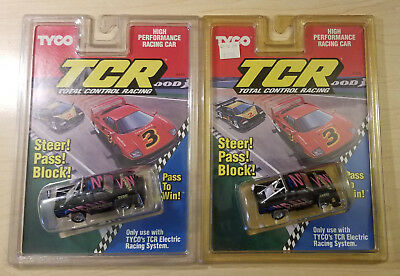 Vintage Lot of 2 TYCO TCR Total Control HO Scale Racing Slot Cars Nissan Pickup