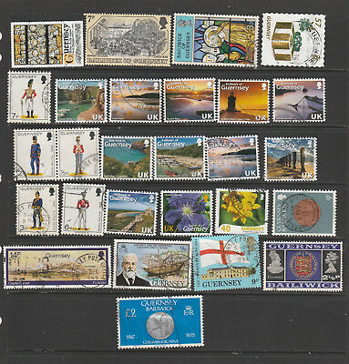 Guernsey  Mix X 26  All Different,  Used Lot C