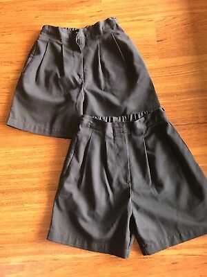 2 Pairs Navy LWR brand,  Girls Size 10 School Shorts, As New